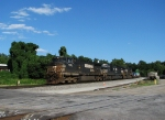 NS 9120 leads a 5 car stacker