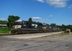 Former Conrail SD60I leads a eight engine light power move 994 past Parrott Ave.