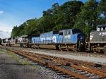 Former Conrail SD60M third in trail