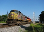 KCS 4024 leads NS train 220 past the new signal bridge at Parrott Ave.