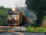 Loaded NS rail train crossing the Chatahoochee