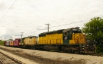CNW Pair and the Caboose train