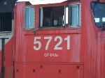 Cab detail on CN 5721
