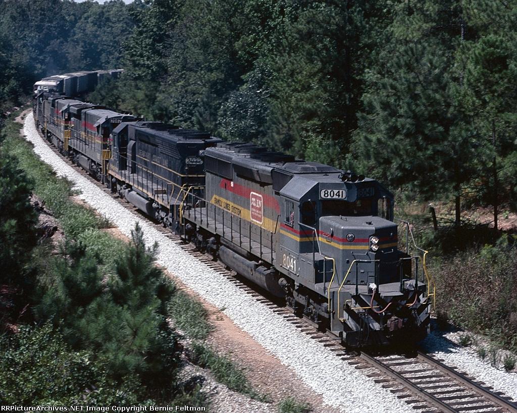 Seaboard System SD40-2 #8041, leading its Waycross bound train,