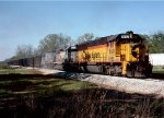 Baltimore & Ohio SD50 #8582, Seaboard System SD40-2 #8013 and CSX U18B #1905 lead a Mobile (AL) export coal train