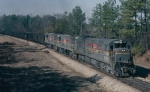 Seaboard System U30C #1482 and U25C's 1521 & 1522 lead a loaded Florida bound coal train