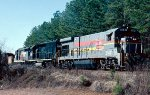 Seaboard System B23-7 #5147, GP40 #6796 and GP30 #1389 lead Atlanta bound train #322