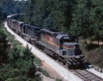 Seaboard System SD40-2 #8041, leading its Waycross bound train,