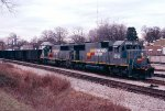 Seaboard System SD50's #8518 and 8524 lead a Mobile (AL) bound export coal train