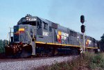 Brand new Seaboard System SD50's 8597 & 8601 lead a southbound coal train