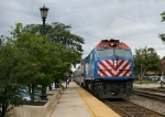 Metra 200 pulls out
