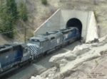 MRL 393 F45 in front of Muir Tunnel of the Bozeman Pass