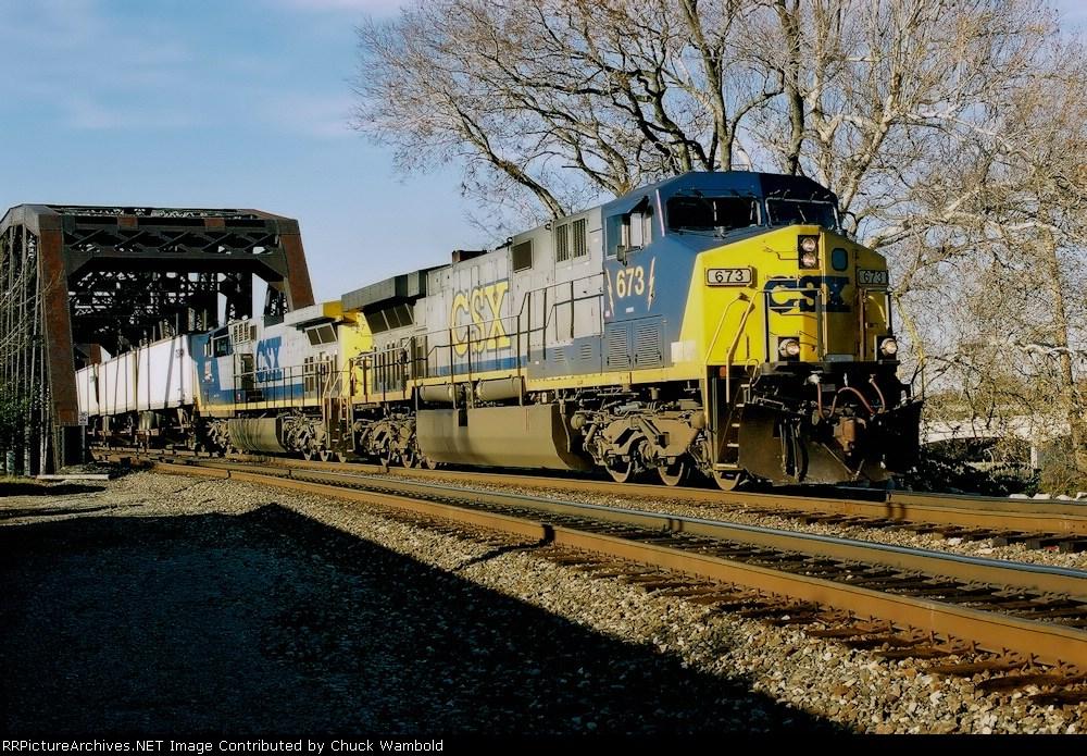 CSX 673 Northbound Dayton, Ohio