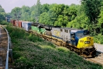 CSX 654 Southbound at SD Cabin