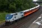 Amtrak 37 leads SP 4449's consist east to Michigan City