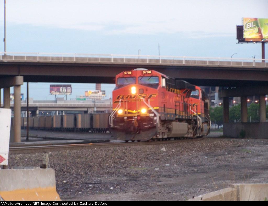 BNSF 5794 Leads an Early Morning Coal Train