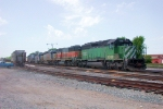 Colorful line up on the KCS ready track