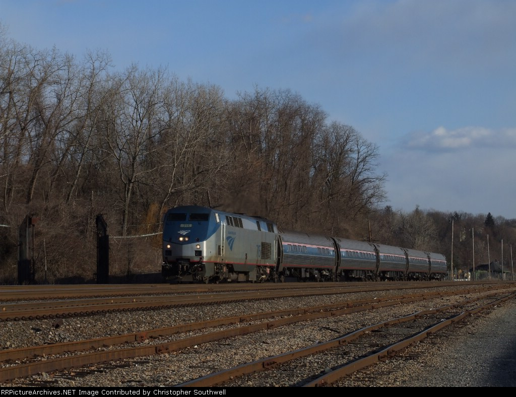 AMTK 715 passes the old wash rack