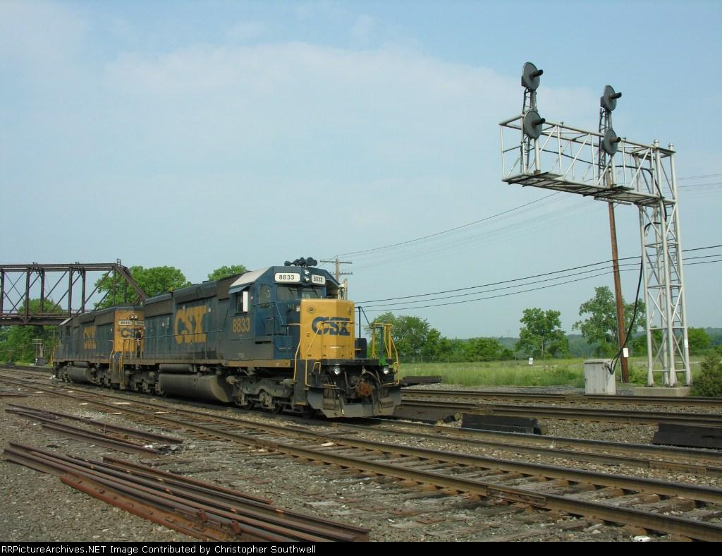 CSX B957 power in the yard