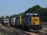 CSX power and rtired MN equipment in the west yard