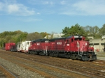 Michels geeps and train in the CNE yard