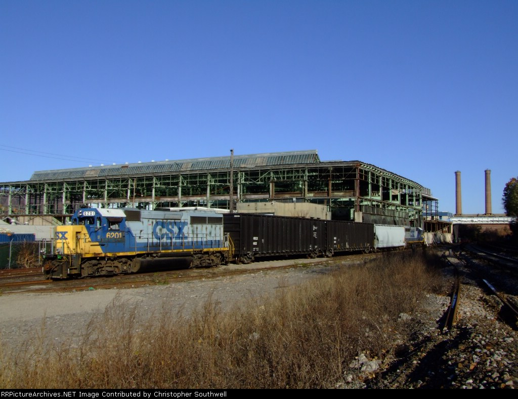 B749 in the former NYC Yonkers yard with the now gone Phelps-Dodge plant