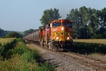 BNSF 5230, heads east with the Bayard local