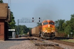 BNSF 5634, Wesbound Kansas City Power and Light empties