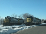 GP40-2s at the West Springfield Yard
