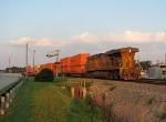 Stacker DPU pulls the train back into Whitaker yard