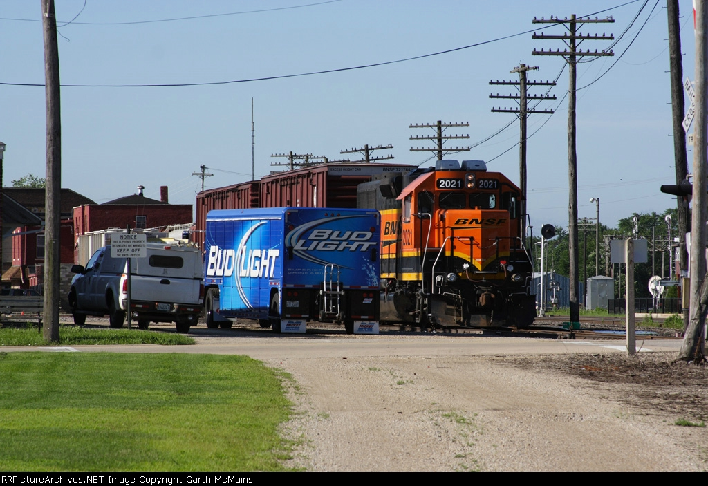 Bud Light makes a delivery to the BNSF yard