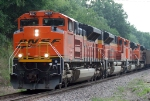 BNSF 9237 and 3 other ACe units closer up