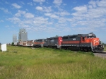 Grain Train Headed for Interchange with Either the BNSF or CP