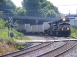 NS 282 rounds the curve through town