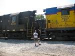 Yours Truly standing in front of TSBY 2681 & 2648