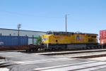UP 7443 at Salt Lake City Middle unit on a Double stack train heading to the West valley Intermodel yard