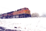 4607 heading east in a late year snow storm
