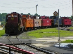 Norfolk and Western 620 with 5 Cabooses