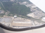 Arriving in Atlanta (from RIC), I saw this NS Train - some of the AirTran Boeing 717 I was on is visible as well