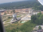 Industrial Facility Viewed from a Boeing 717 (AirTran Airlines, MLI-ATL) Landing at Hartsfield International Airport