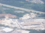 NS Train Viewed from the Air Approaching Hartsfield International Airport