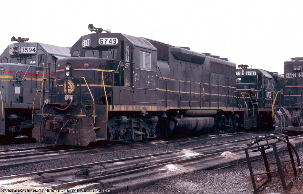 Seaboard System GP40 #6749 in the Boyles Yard Service Center