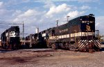Southern Railway U23B #3917 and Norfolk Southern GP38 #2785 sit amongst other local power on the Engine Tracks