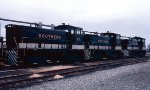 Southern Railway SW1500's #67, 71 & 68, all former Kentucky & Indiana Terminal (KIT) units, in Industry Yard