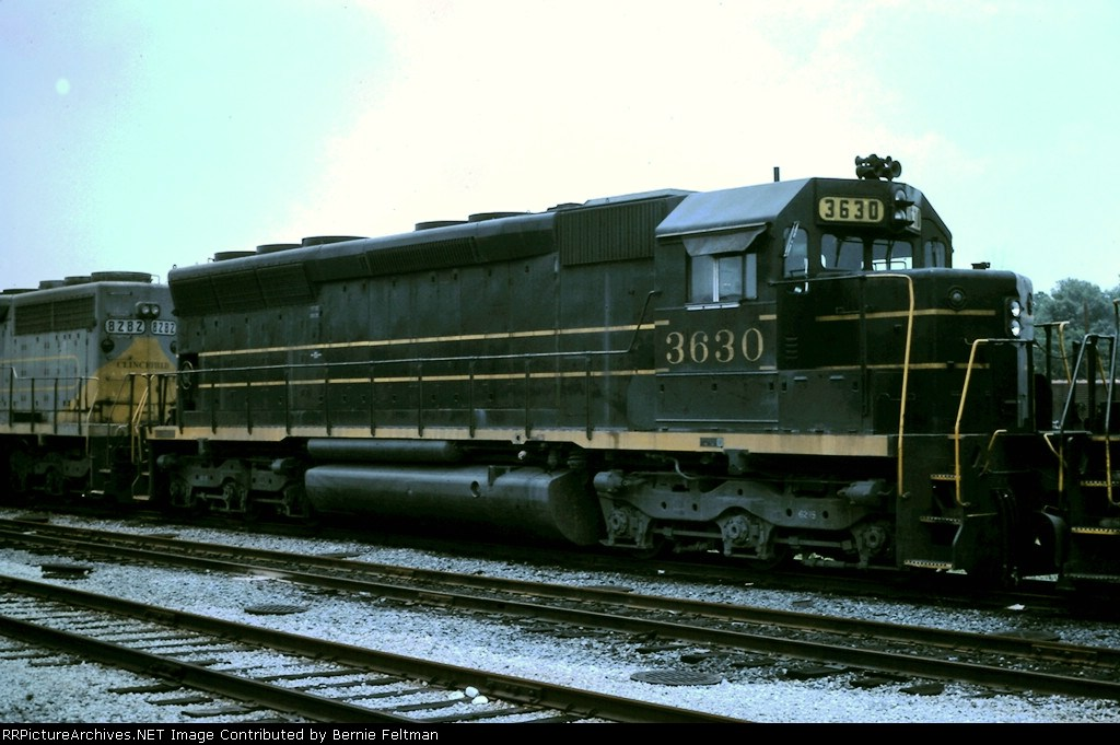 Clinchfield Railroad SD45 #3630, sitting in Tilford Yard,