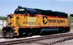 CSX (Chesapeake & Ohio) GP40-2 #6318 tied down on the Engine Track