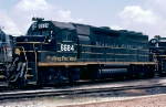 Seaboard System GP40 #6684, out of the group of 51 former Seaboard Air Line GP40's built in 1966 & 1967,