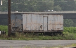 A old DL&W piggyback trailer next to the NS main in Bethlehem PA