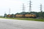 Coal train power in the Nipsco yard