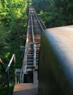 Rumbling across the Oconee River trestle